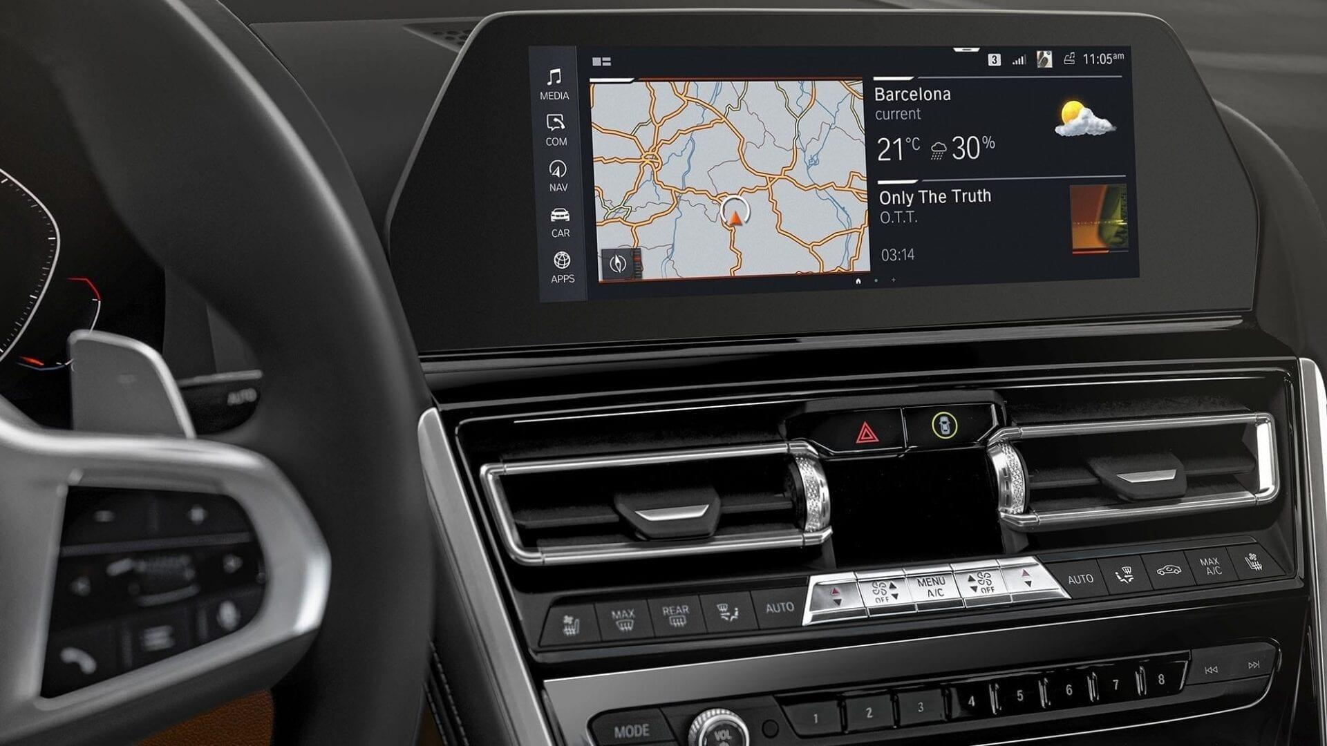 Pantalla de navegación BMW Serie 8