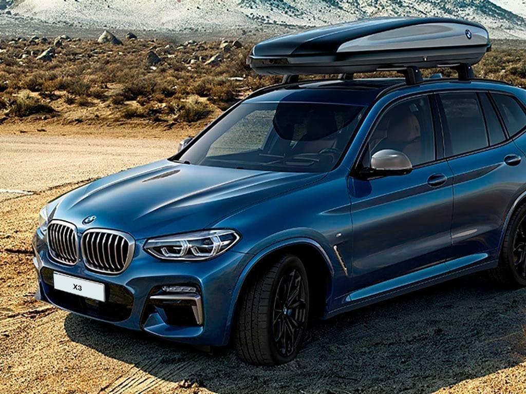 BMW X3 con caja portaequipajes