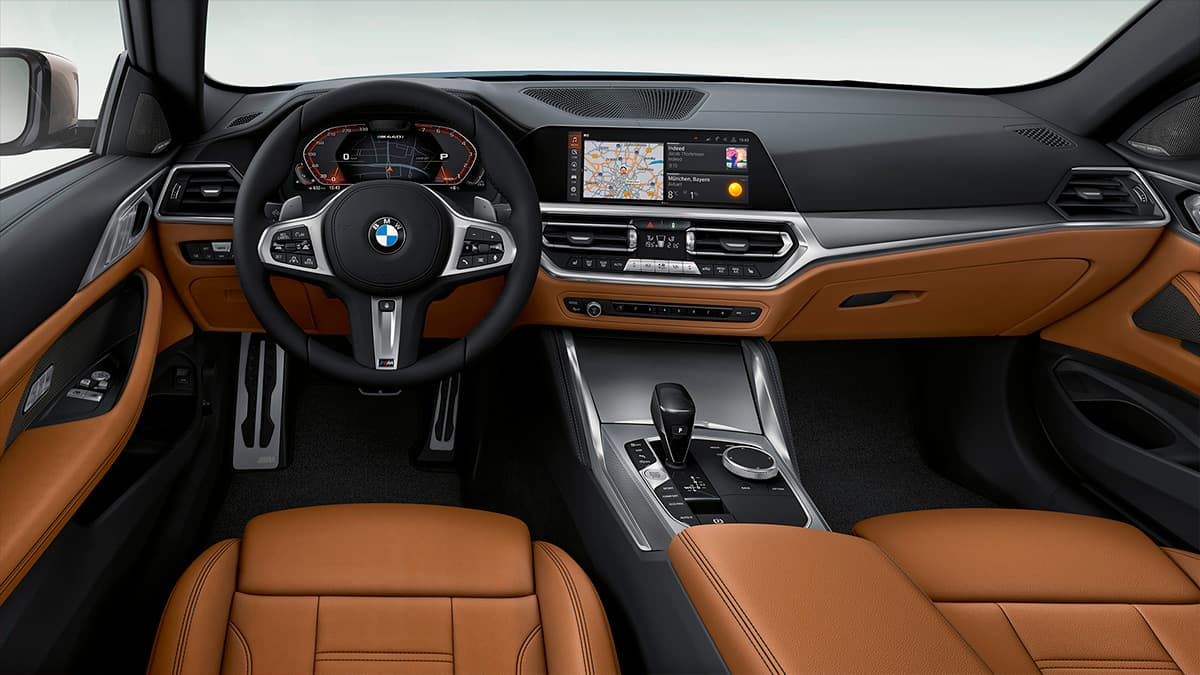 BMW SERIE 4 interior con materiales exclusivos