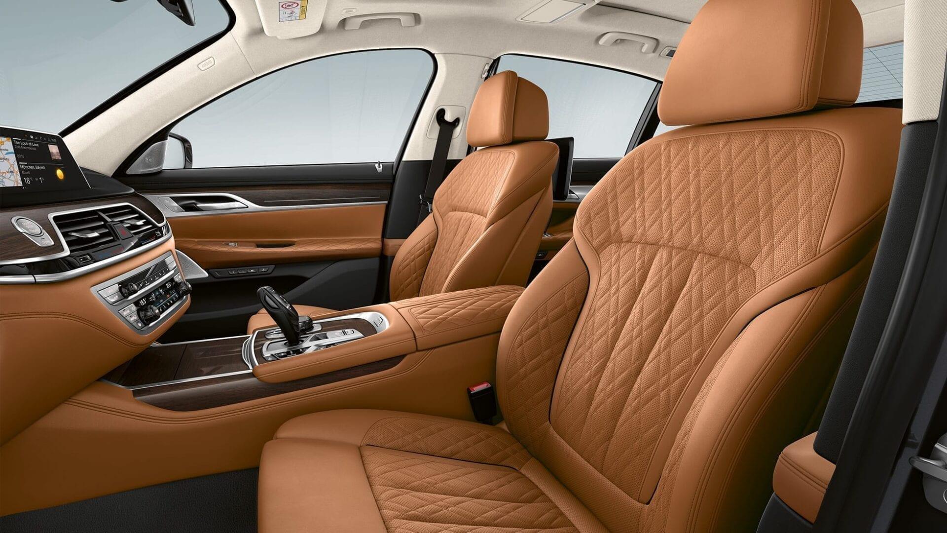 BMW Serie 7 tapicería piel marrón
