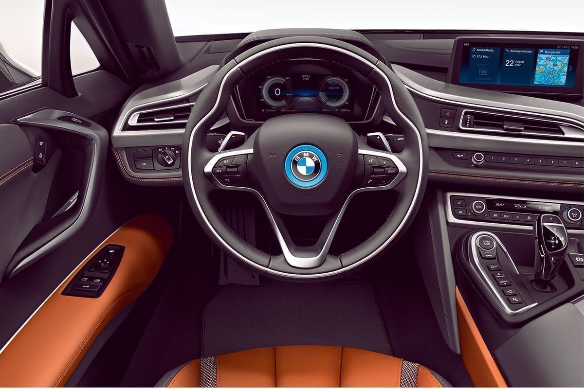 Diseño interior del BMW i8