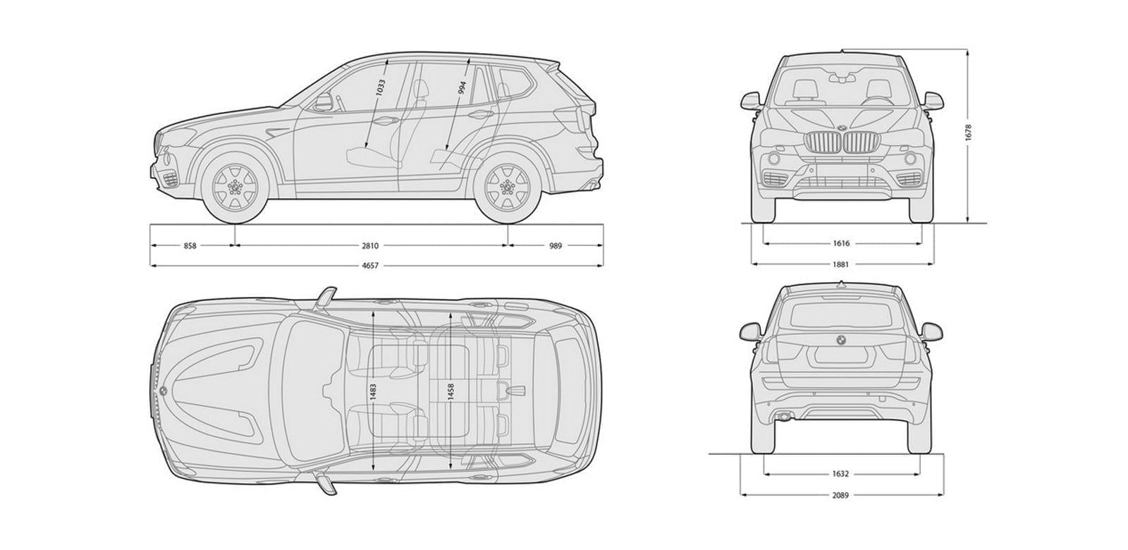 Dimensiones perfectas del BMW X3
