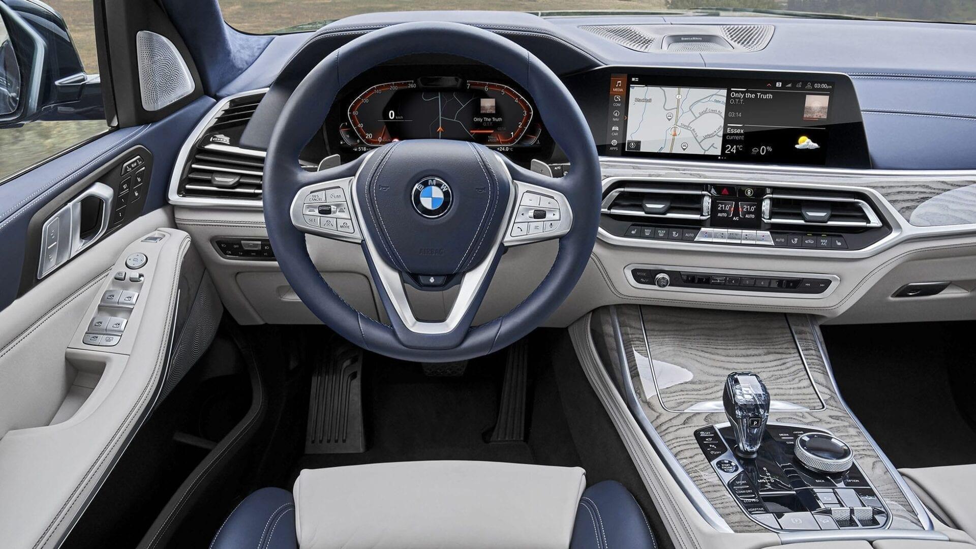 interior en piel del BMW X7