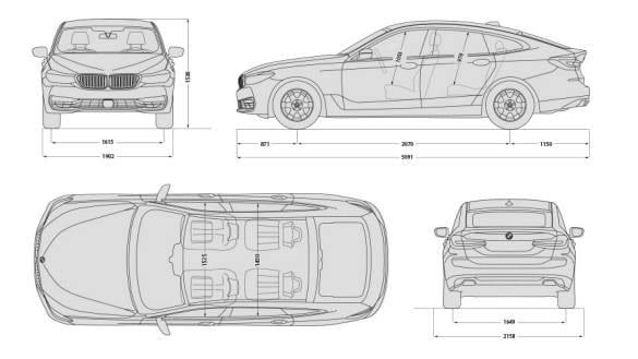 Dimensiones del BMW Serie 6