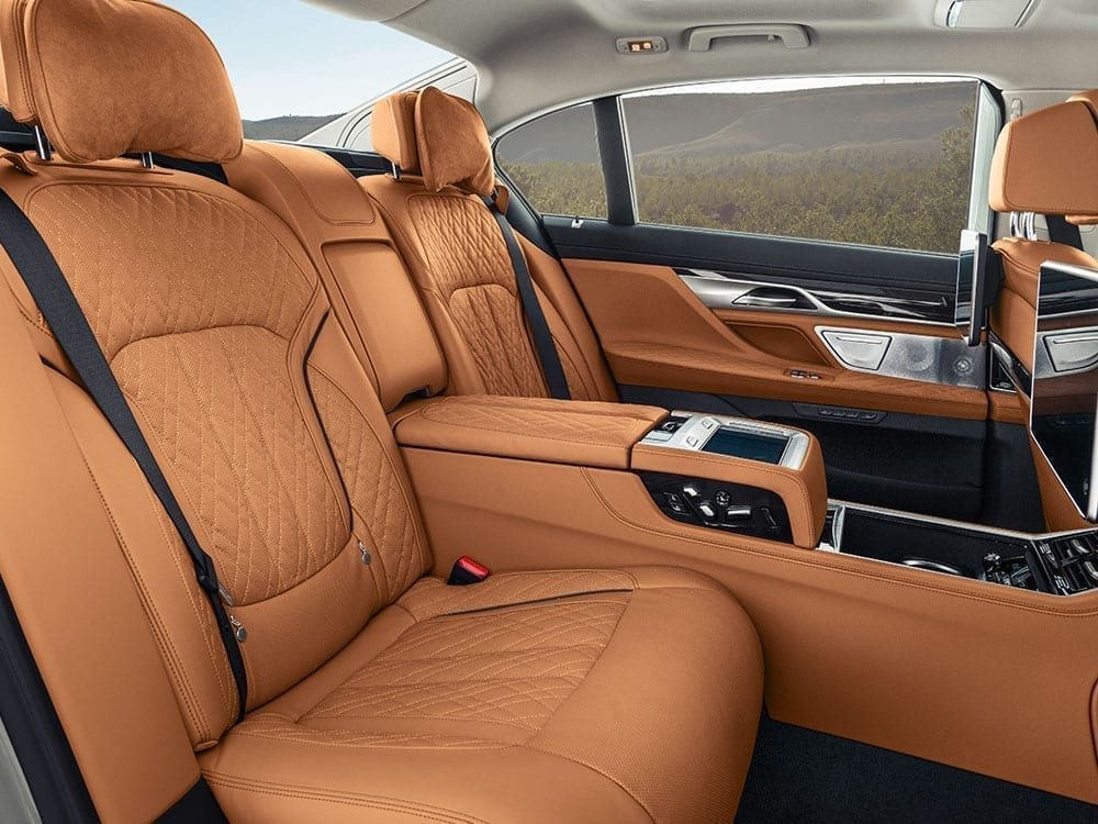 Interior piel marrón BMW Serie 7
