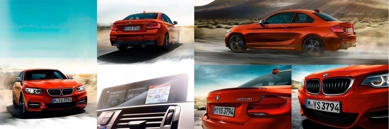 Mosaico de fotos del BMW Serie 2
