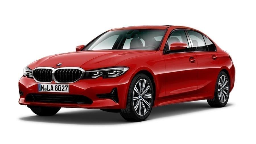 BMW Serie 3 rojo