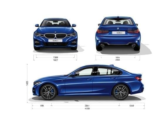 Dimensiones del BMW 320